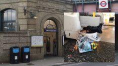 El artefacto que explotó en el metro de Londres.