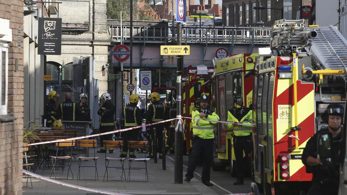 Atentado en el metro de Londres (Foto: AFP)