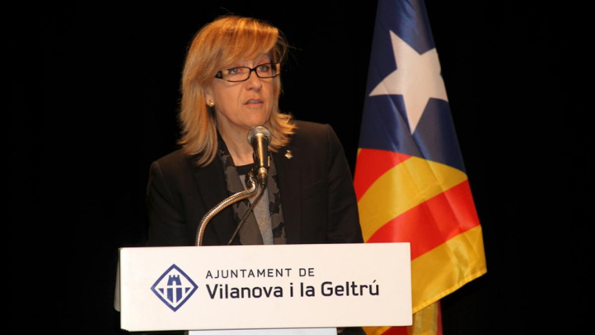 Neus Lloveras, alcaldesa de Vilanova i la Geltrú y presidenta de la Asociación de Municipios por la Independencia, AMI.