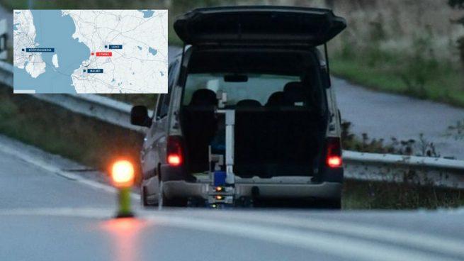 El coche interceptado con el robot de los TEDAX acercándose para investigarlo. Arriba el mapa con el punto donde se ha producido a la detención del vehículo. Foto: RRSS