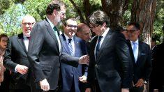 Mariano Rajoy y Carles Puigdemont, el pasado mes de mayo en Barcelona.