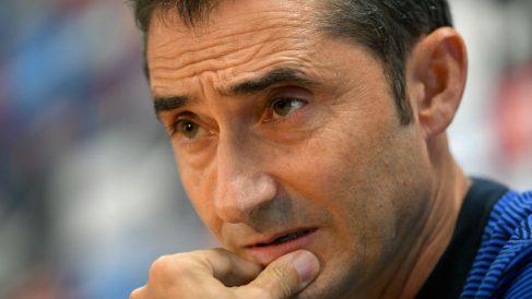 Valverde durante un rueda de prensa. (AFP)
