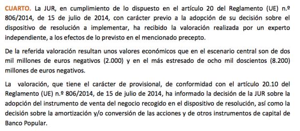 Deloitte no ha entregado el informe definitivo de valoración del Popular porque la UE no lo ha pedido