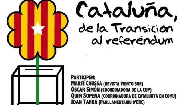 Cartel del acto a favor del referéndum en Gijon