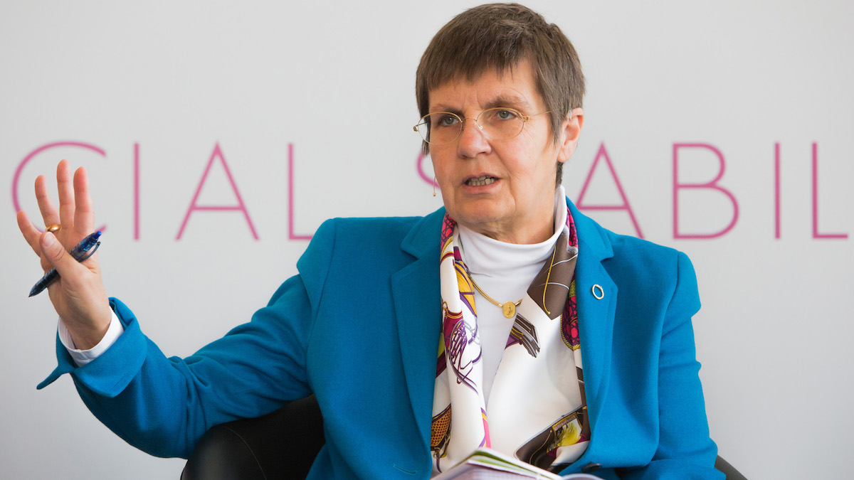 La presidenta de la Junta Única de Resolución (JUR), Elke König.
