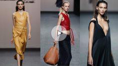 Tres de los diseños presentados por Roberto Torretta para el próximo otoño/iunvierno en la Mercedes BEnz Fashion Week.