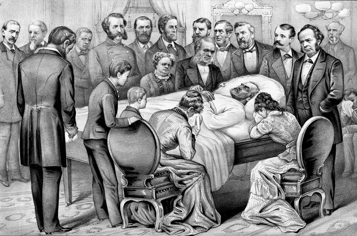 El Presidente James A. Garfield fue asesinado tras solo seis meses y quince días en el cargo.