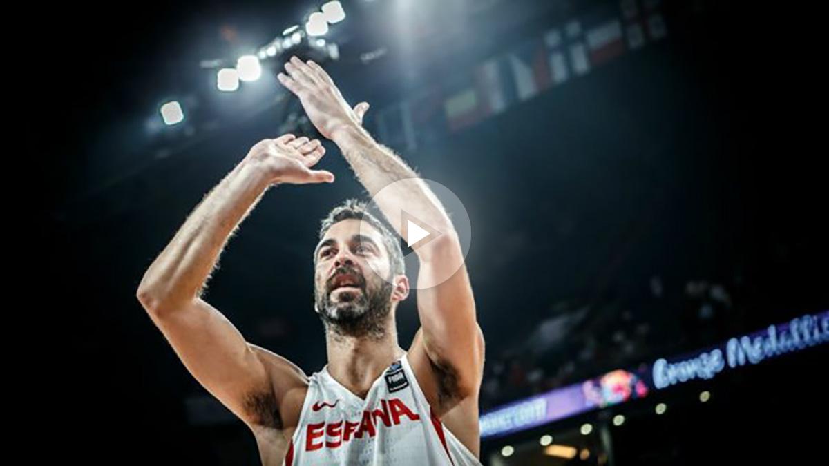 Juan Carlos Navarro, en su despedida de la selección. (FIBA)
