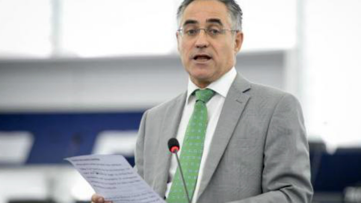 Tremosa durante su etapa como eurodiputado