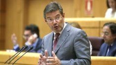 El ministro de Justicia, Rafael Catalá, en el Senado. (Foto: Efe)