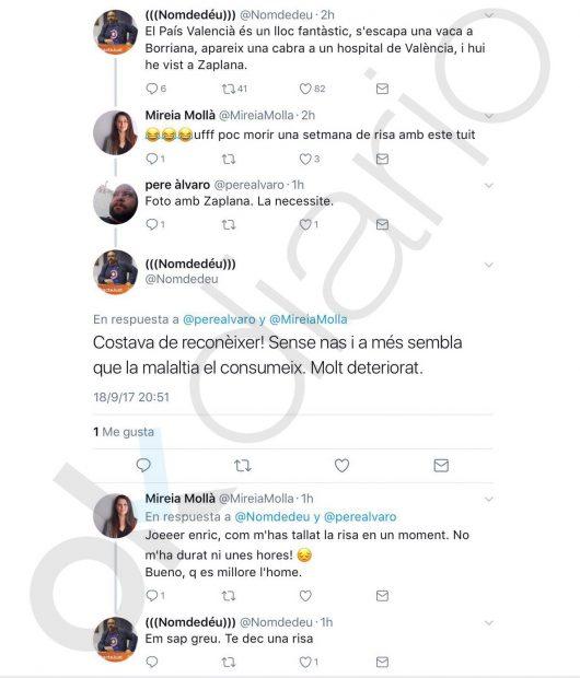 Dos altos cargos de Compromís se mofan del deterioro físico de Eduardo Zaplana causado por el cáncer