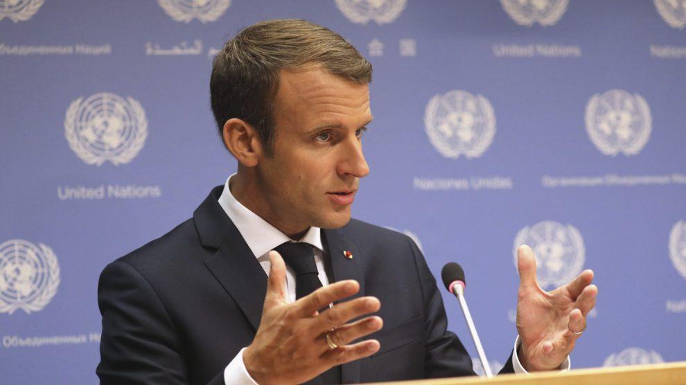 Emmanuel Macron en la ONU (Foto: AFP)