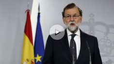 Mariano Rajoy comparece en Moncloa. (Foto: EFE)