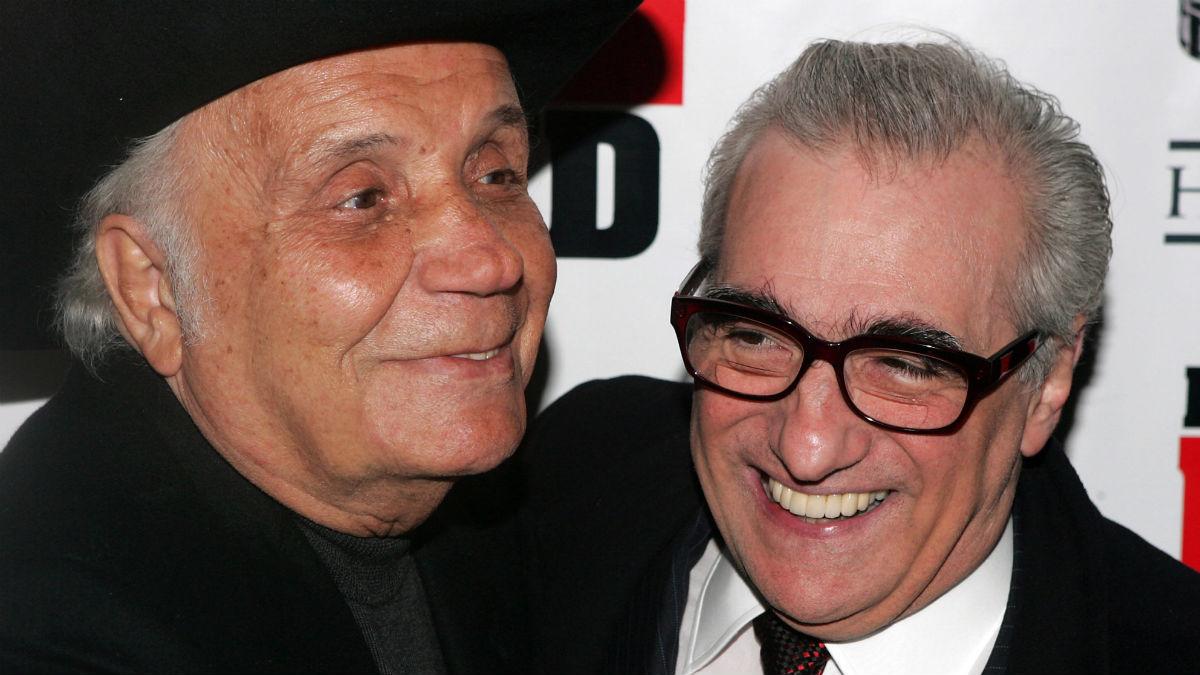 Jake LaMotta y Martin Scorsese (Foto: AFP)