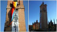La bandera del Orgullo sí lució en la Torre. La bandera española no lo hará