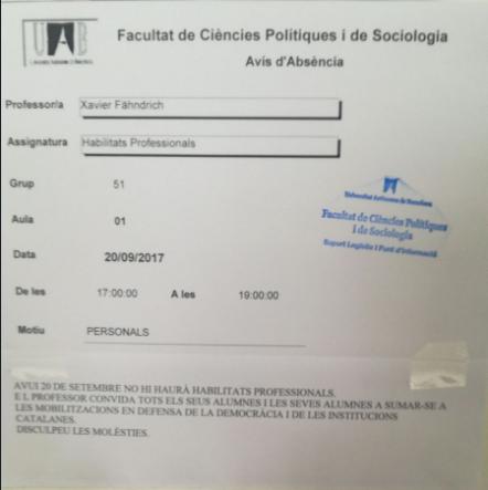 Los institutos de Olot movilizan por carta a los alumnos para defender el 1-O en la calle