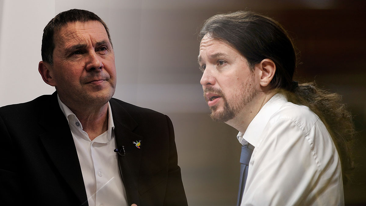 Arnaldo Otegi y Pablo Iglesias.