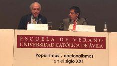 Eduardo Inda durante la conferencia.