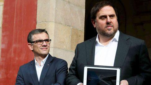 Josep Maria Jové y Oriol Junqueras. (Foto: EFE)