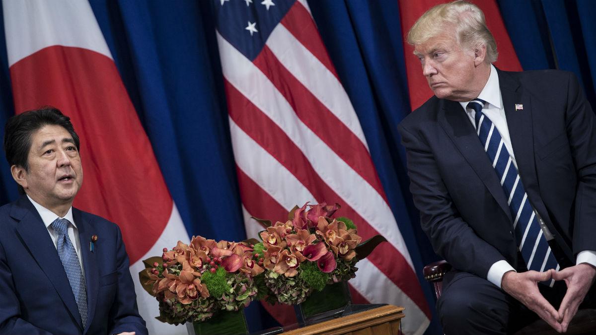 Los presidentes de Estados Unidos y Corea del Sur (Foto: AFP)