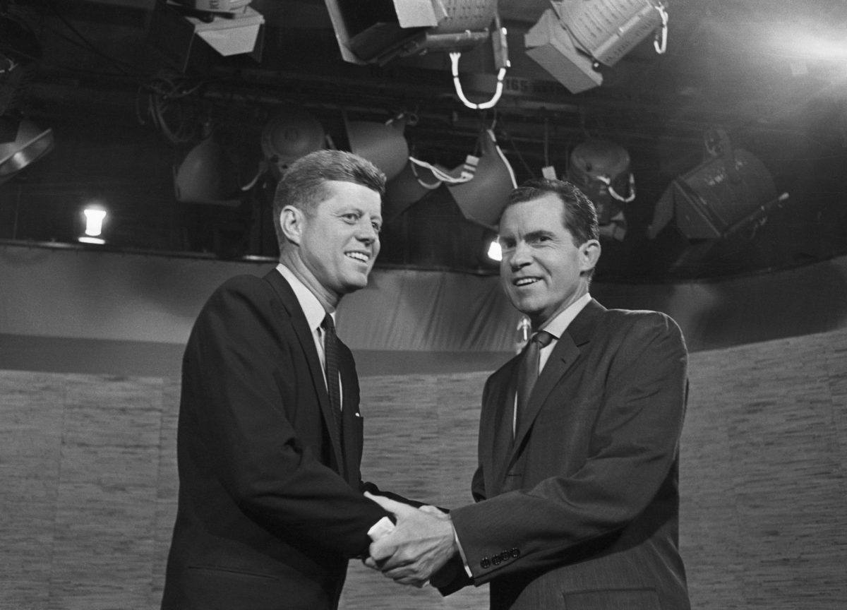 Richard Nixon y John F. Kennedy protagonizaron el primer debate político televisado de la historia.