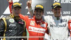 Michael Schumacher, Fernando Alonso y Kimi Raikkonen son los campeones del mundo de Fórmula 1 que más dinero han ganado en la historia. (Getty)