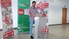 Antonio Agustín Ligero, en su etapa como secretario general de las Juventudes Socialistas en Córdoba