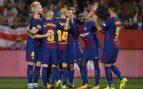 El Barcelona gana en Girona con dos goles en propia puerta