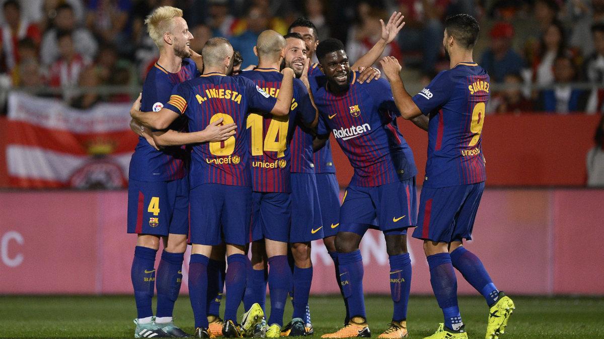 El Barcelona venció al Girona y sumó su sexta victoria en Liga. (Getty)