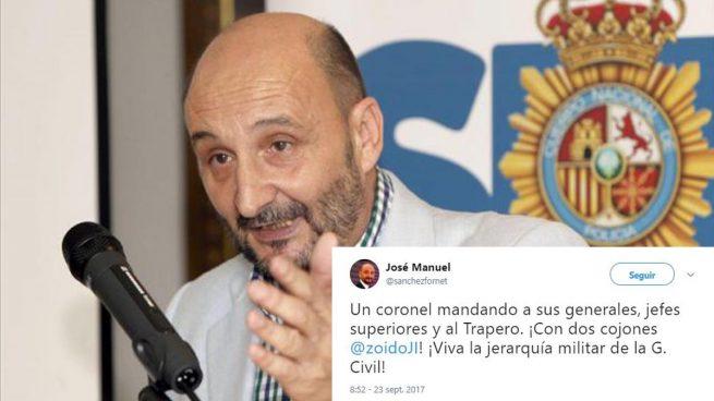 El ex líder sindical policial Fornet apoya el control de la Guardia Civil a los Mossos