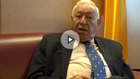 José Manuel García-Margallo, durante la entrevista con OKDIARIO.