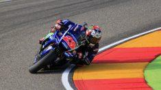 Maverick se llevó la pole en Aragón, con Rossi tercero. (EFE)