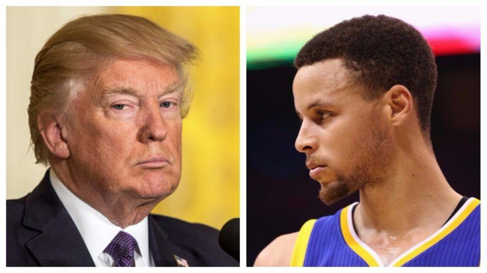 Donald Trump y Stephen Curry.