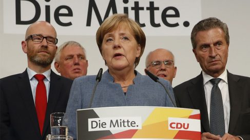 Angela Merkel tras ganar las elecciones en Alemania (Foto: AFP)