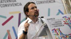Pablo Iglesias, en su discurso ante la asamblea bolivariana a favor del referéndum ilegal. (EFE)