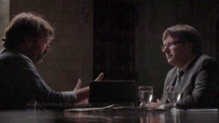 Carles Puigdemont entrevistado por Jordi Évole.