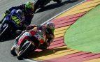 Rossi y Pedrosa se pican por una maniobra temeraria del italiano
