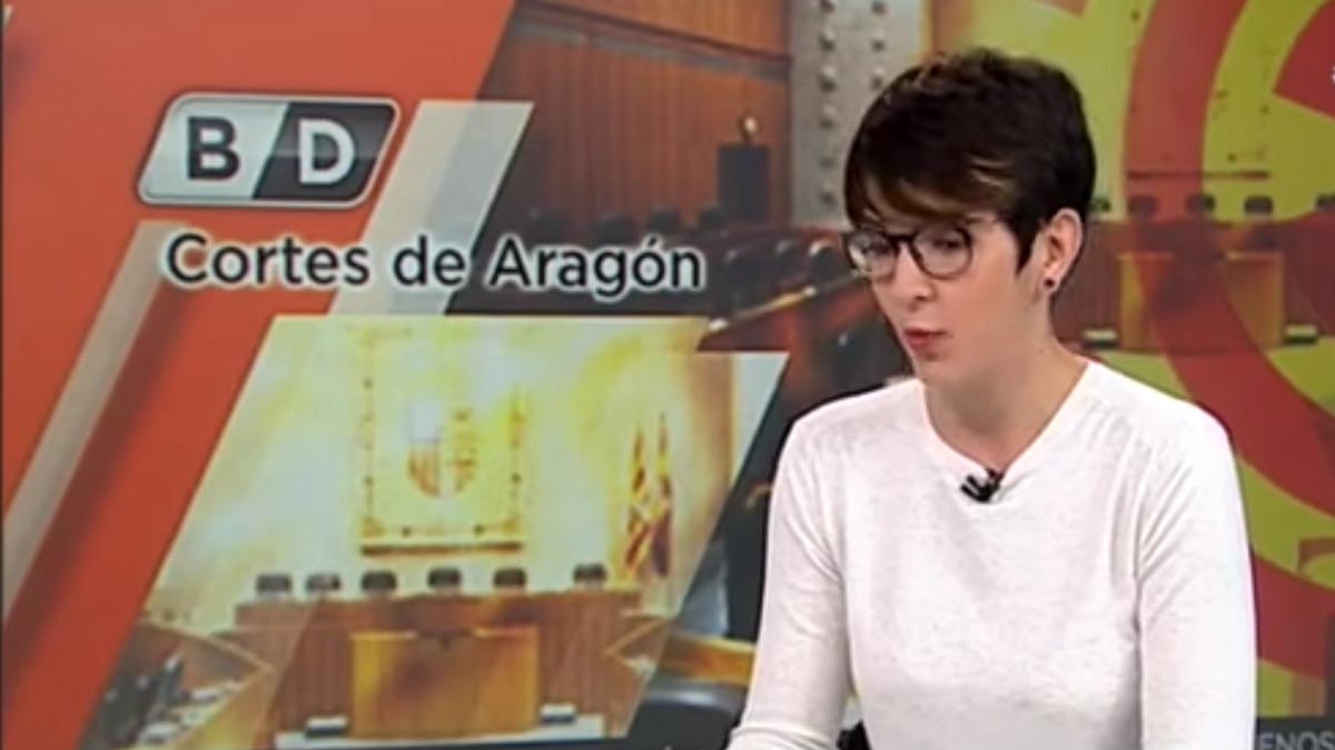 Violeta Barba, presidenta de las Cortes de Aragón.