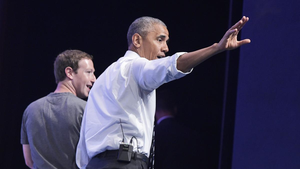 Barack Obama y Mark Zuckerberg. (Foto: AFP)