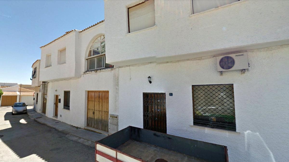 Viviendas de la calle Lucena, en el barrio de Las Canteras de Cartagena, lugar del suceso.