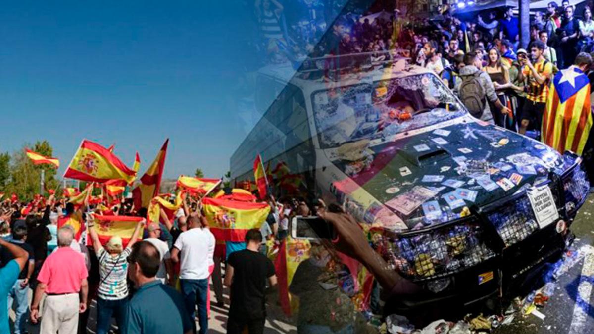 Podemos tilda de «nazis» a los españoles de Zaragoza mientras calló con los disturbios de la CUP