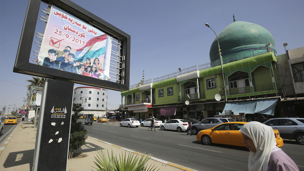 Referéndum en el Kurdistán (Foto: AFP)
