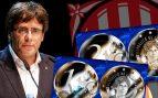Puigdemont ya tiene su moneda: los separatistas encargan 450.000 piezas con su efigie