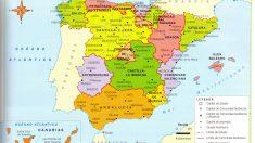 Mapa con comunidades autónomas y provincias