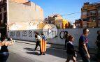 Así se realizan pintadas golpistas en Cataluña ante los ojos de unos Mossos que ni se inmutan