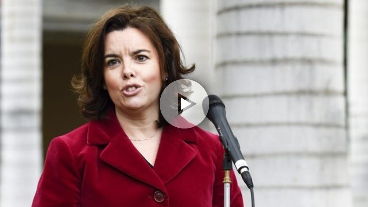 Soraya Sáenz de Santamaría. (Foto: AFP)