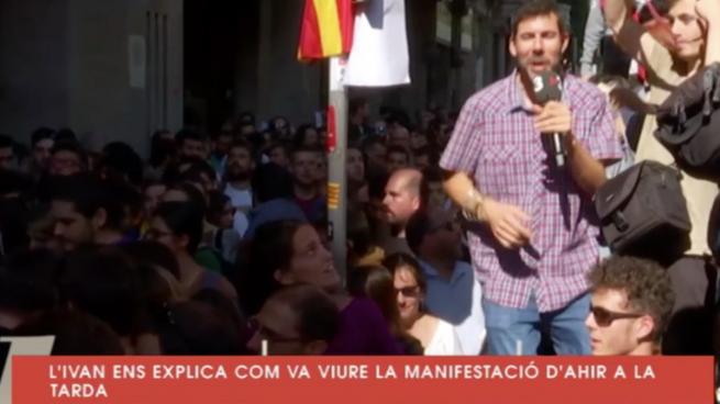 El reportero de TV3 tras dañar un coche de la Guardia Civil: «El momento más tierno y bonito de mis 20 años de profesión»