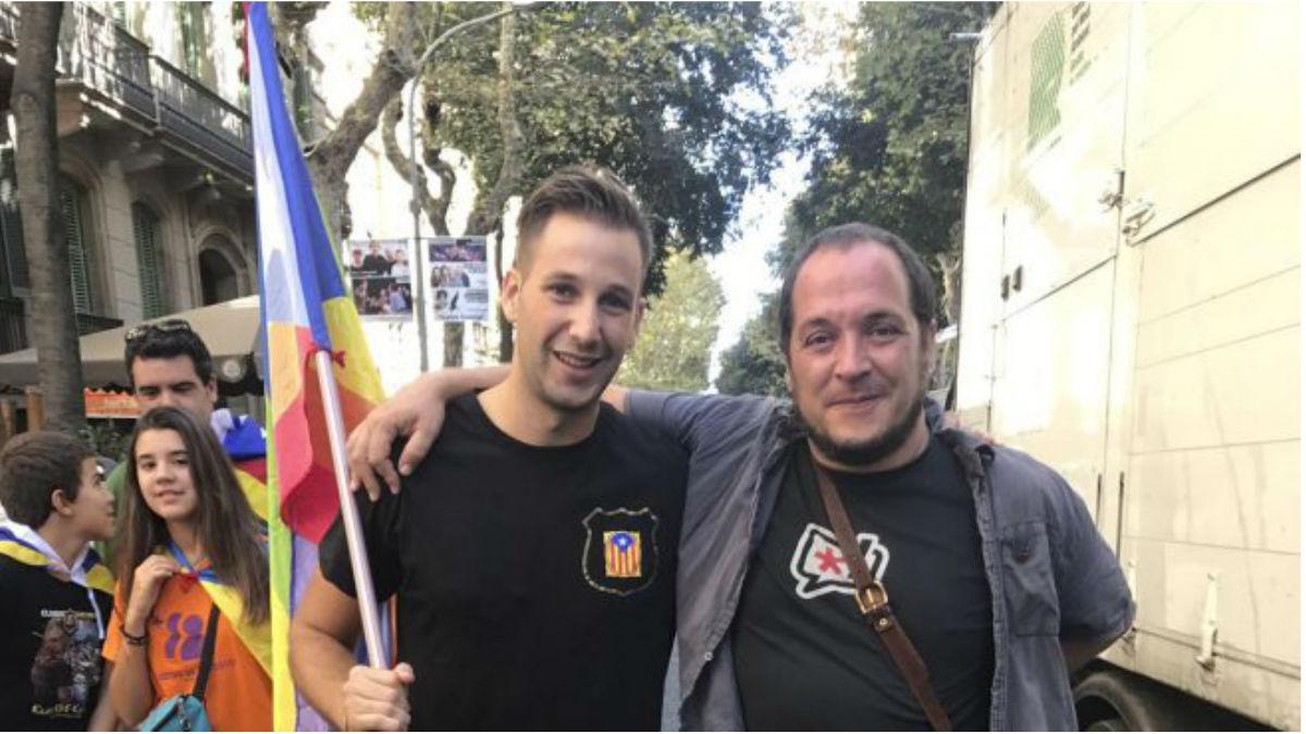 Albert Donaire, líder de «Mossos per la República Catalana»