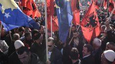 Manifestación por la Gran Albania (Foto: AFP)