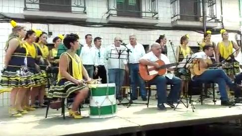 Los miembros del  Coro Romero Nuestra Señora de Villaviciosa de Córdoba, en una actuación.